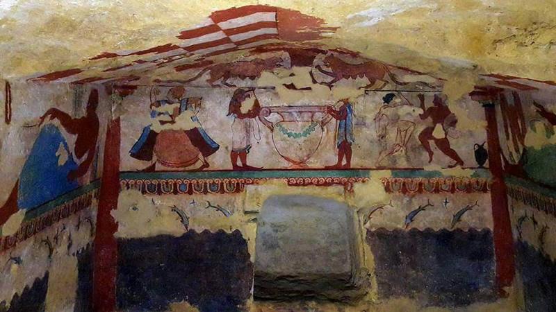 Grab der Löwinnen, Nekropole Tarquinia (Foto: Paola Di Silvio)
